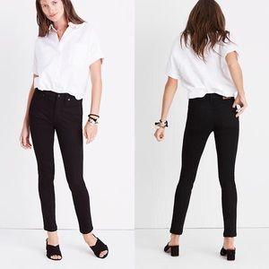 """Madewell 9"""" Mid Rise ISKO Black Skinny Jeans 26"""